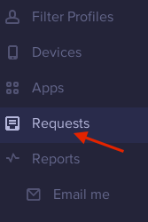 Mobicip > Requests menu