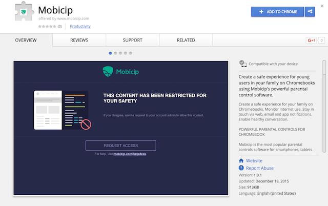 Mobicip Chrome Web Store