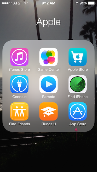 Select App Store icon